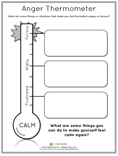 Anger_Thermometer on Grief Worksheet