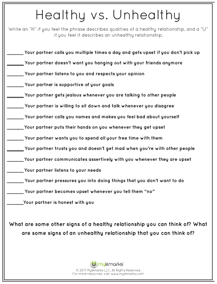 photograph relating to Healthy Relationship Quiz Printable called Balanced Associations Quiz - Teenager Conditioning Useful resource - Balanced