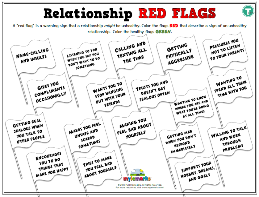 relationship red flags  teen