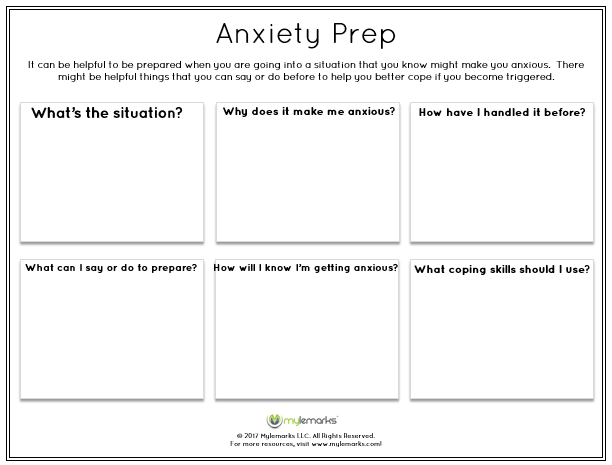 Anxiety and Stress Worksheets – Anxiety Management Worksheets