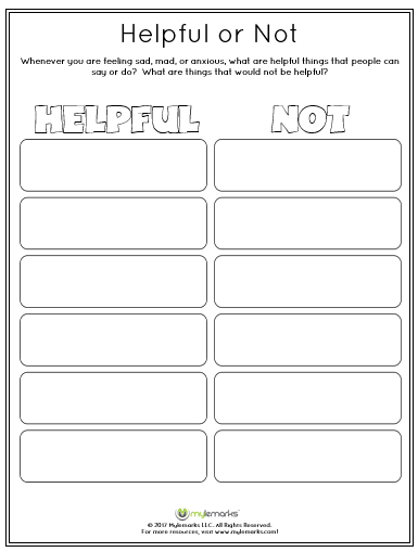 Feelings And Mood Worksheets
