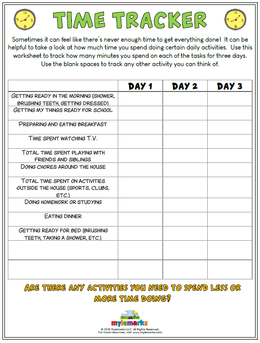 Time management worksheets ibookread PDF