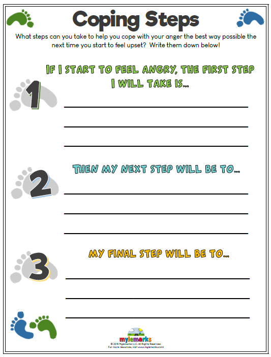 Rare image inside free printable coping skills worksheets