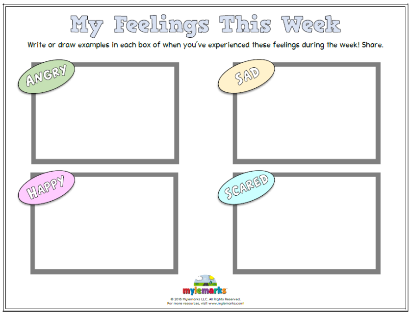 Feelings And Mood Worksheets For Kids And Teens