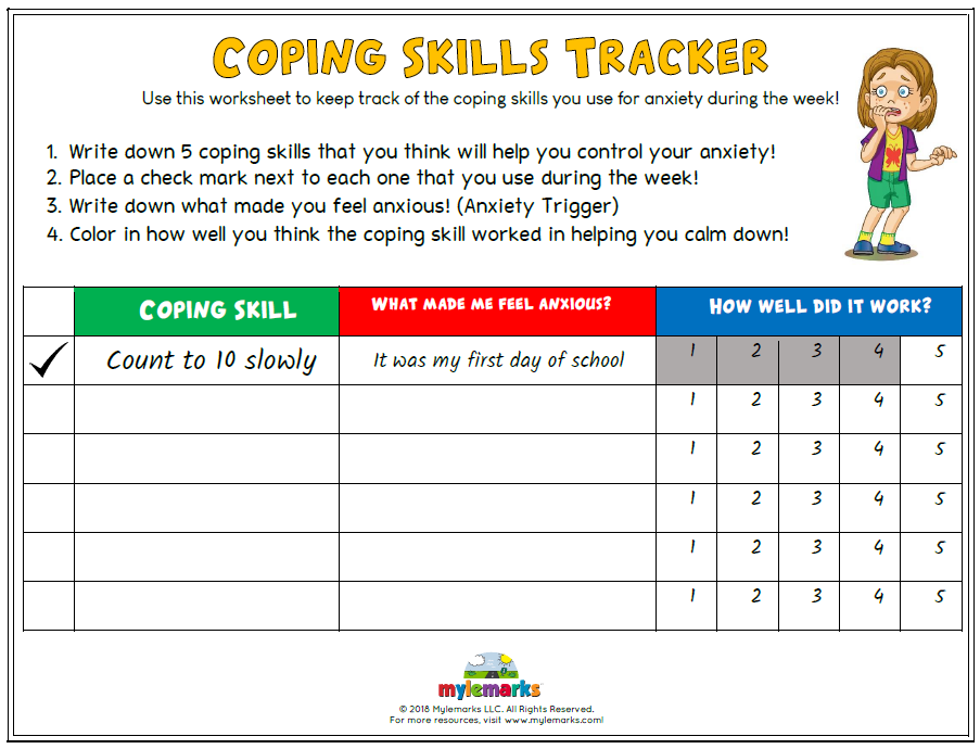Coping Skills Tracker (Anxiety)